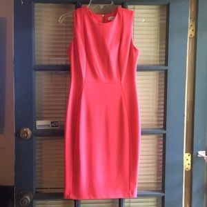 Coral Calvin Klein dress!